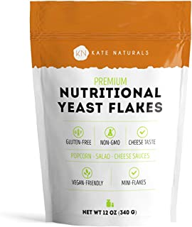 Premium Nutritional Yeast Flakes (Nooch)- Kate Naturals. Fortified. Taste Like Cheese. Perfect For Mac & Ch...