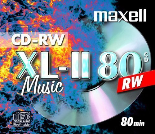 10 X MAXELL DIGITAL AUDIO CD-RW MUSIC CD'S REWRITABLE by Maxell