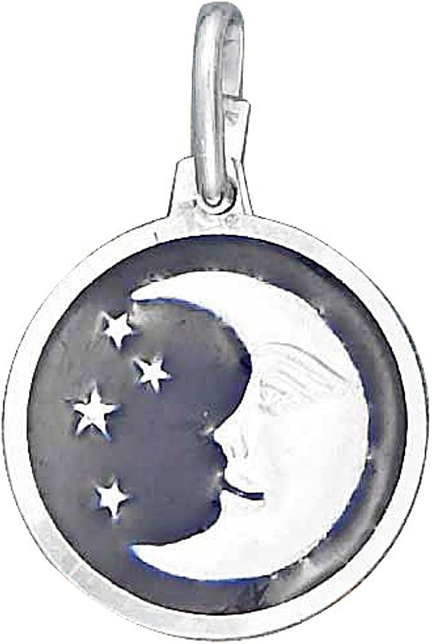 Sterling Silver Girls .8mm Box Special price At the price of surprise Chain Crescent Moon Stars Small O