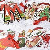 SERWOO 6 Stück Weihnachten Girlande Banner Wimpelkette Papier Girlande Weihnachtsgirlande Merry Christmas Girlande Weihnachtsmann Schneemann Weihnachten Deko (2.7M / Jede Girlande) - 2