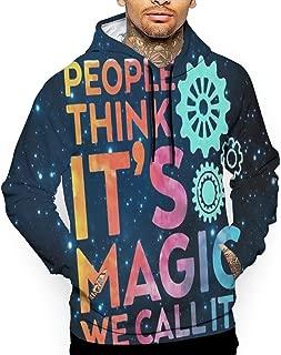 Magic Engineering Gear Space Pullover Hoodie Drawstring Sweatshirt Fleece Sportswear for Men