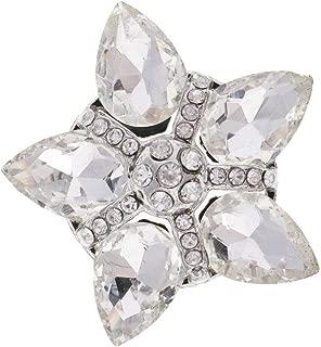 MOPOLIS 35mm MultiColor Crystal Glass Diamante Button for Bag Clothes Decor   Color - Withe