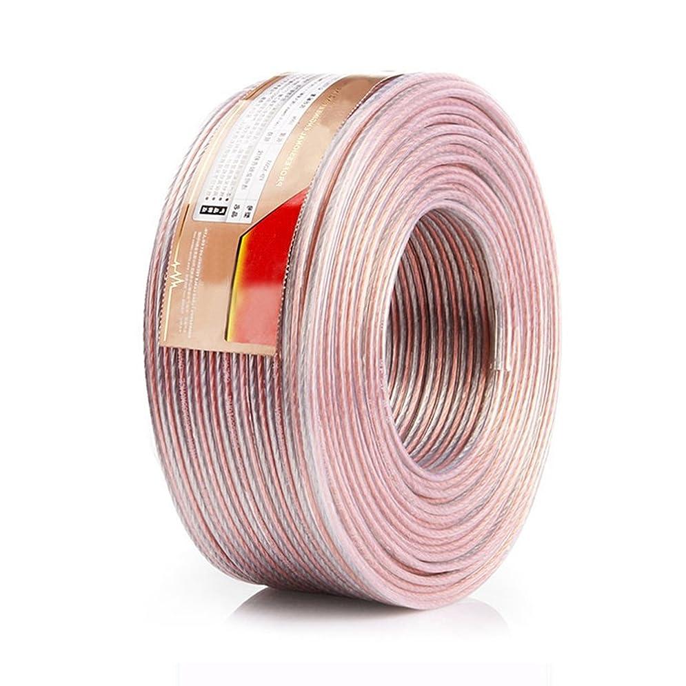 小道エージェント圧倒的スピーカーケーブル スピーカーコード オーディオケーブル 高純度OFC 錫メッキ (20m, 1.91mm2)