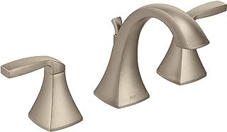 Moen T6905BN Voss Two-Handle 8 in. Widespread Bathroom Faucet Trim Kit, Valve Required, Brushed Nickel