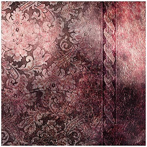 Wallario Möbeldesign/Aufkleber, geeignet für IKEA Lack Tisch - Schnörkelmuster in rot in 55 x 55 cm