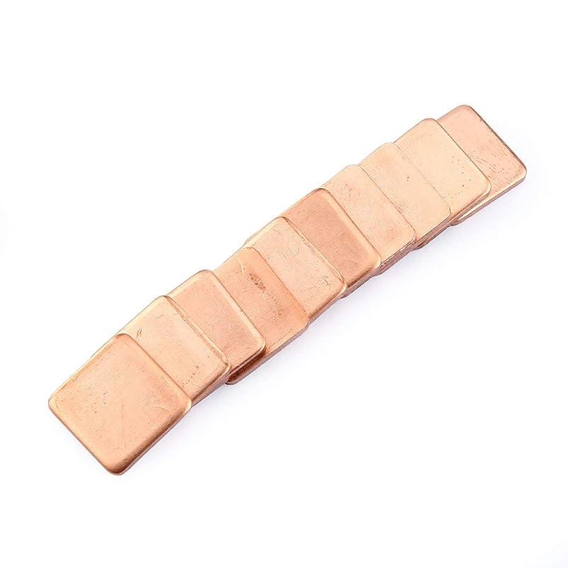 補充励起おとうさん10本ピュア銅真鍮ヒートシンクシムサーマルパッドバリア用ラップトップグラフィックカード15×15mm高速熱放散(カラー:メタル)