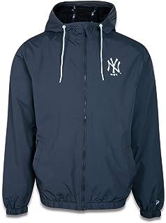 JAQUETA CORTA VENTO (WINDBREAKER) MLB NEW YORK YANKEES SAZONAL QUAD PRETO AZUL CHUMBO MARINHO New Era