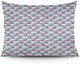 Keyboard cover Da Pretty Flowers - Funda de cojín (66 x 50 cm), diseño de rayas de puerto
