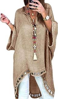 UUGYE المرأة قصيرة الأكمام فضفاضة صالح الخامس الرقبة الصلبة قمصان بلايز بلوزة