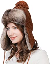 Comhats SIGGI Ladies Earflap Trapper Hat Faux Fur Hunting Hat Fleece Lined Thick Knitted