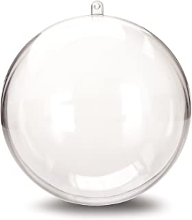 Darice 1105-89 Plastic Ball Ornament, 140mm, Clear - Pack of 6