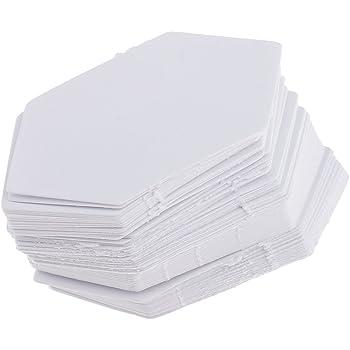 100 X 0.75 Pulgadas Hexagonal plantillas de papel papel inglés de lado Piecing 120gsm