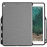 ProCase Carcasa para iPad Pro 12.9 2017/2015, Funda Posterior con Portalápiz para iPad Pro 12.9 Pulgadas 2017 y 2015, Compatible con Apple Smart Keyboarde y Smart Cover –Gris