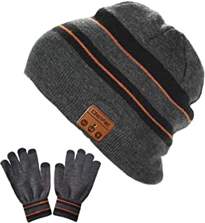 Bluetooth Beanie Hat Cap with Wireless Bluetooth Headphone Headset Music Audio Hands Free Phone Call for Winter Sports Exe...