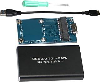 LS-721M USB 3.0 TILL MSATA SSD-hårddiskbox för 3060/3042 lagring med kabel svart