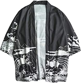 OrchidAmor Fashion Lovers Individuality Print Top Blouse Kimono Hot Spring Clothing 2019 Summer