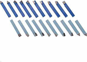 "20pc 1/4"" Carbide Tip Tipped Cutter Tool Bit Cutting Set for Metal Lathe Tooling"