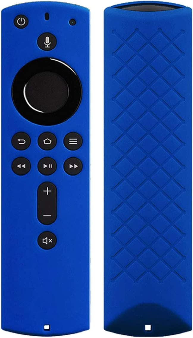 Remote Cover Case for Fir TV Stick 2020/Fir TV Stick 4K/Fir TV Stick (2nd Gen)/Fir TV (3rd Gen) - Auswaur Silicone Remote Protective Case Skin Compatible with Alexa Voice Remote Control - Royal Blue