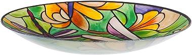 Evergreen Garden Beautiful Summer Dragonfly Art Nouveau Bird Bath - 18 x 18 x 2 Inches Fade and Weather Resistant Outdoor Dec