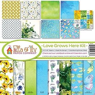 Ella & Viv by Reminisce Scrapbook Ella and Viv Love Grows Here Collection Kit