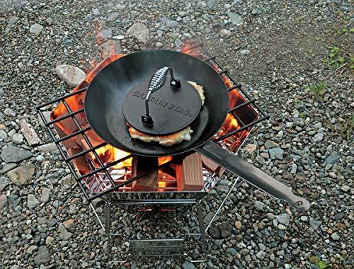 キャプテンスタッグ(CAPTAINSTAG)アウトドアキャンプ用品BBQグリルミートプレスUG-3285