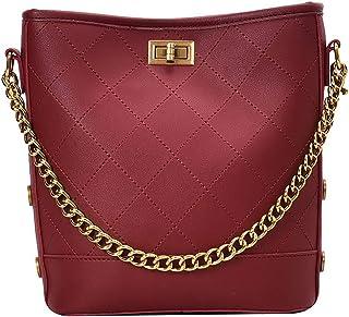 Fanspack Women Bucket Bag Chain All-Match Crossbody Bag Shoulder Bag Messenger Bag