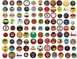 100 Count Everything K Cup Variety Pack - 100 Different K Cups and Flavors including Coffee, Flavored Coffee, Tea, Hot Milk Chocolate or Cocoa, Cappuccino & Decaf
