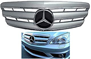 Mercedes benz W221 S-Class 2007 2008 2009 Silver-Chrome grille with Chrome Star Emblem S550 S63 S350 Front Bumper Hood