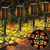 Lámparas solares para jardín, T-SUN 4 piezas de luces solares para jardín al aire libre, luz solar para césped, linternas solares para jardín para césped, acera, patio, paisaje, (blanco cálido)