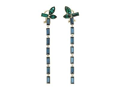 Swarovski Bamboo Pierced Earrings Drop (Erinite/Emerald) Earring