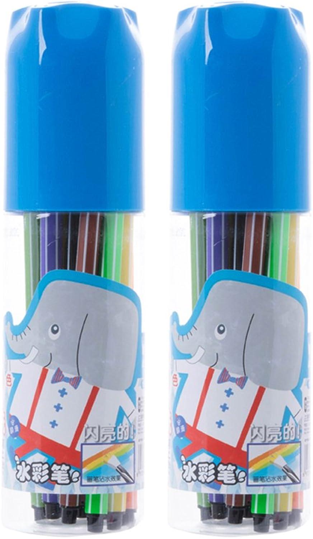 Aquarell Pen Pen Pen Set   Hohe Qualität, Dicke 12 Farbe, Flexible Nib Art Mark, ungiftig (Farbe   18 Blau) B07FMZWGGF     | Deutschland Store  7eafb2