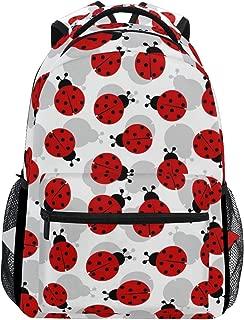 MOFEIYUE Animal Ladybug Pattern Backpacks College School Bag Shoulder Casual Travel Daypack Hiking Camping
