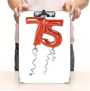 """カスタムプリントクリップボード ハードボードクリップボードパック グラフィックケーキキャンドル アーティスティックな背景 オフィス 学校 仕事 ビジネス用 8.85""""x12.59"""""""