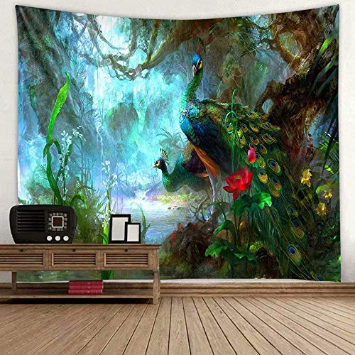 Wandteppich Tapisserie Multicolored Fantasy Wandbehang Wandtuch, für Pavillon Strandhaus,Wandteppich mit detailliertem Druck für Picknick Strand 1 Stück,150x200cm,Wandteppich psychedelic