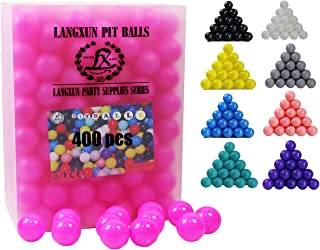 LANGXUN 400pcs Ball Pit Balls - Soft Plastic Play Balls for Babies & Toddlers for Kids, Swimming Pool Toys, Play Tents, Pa...