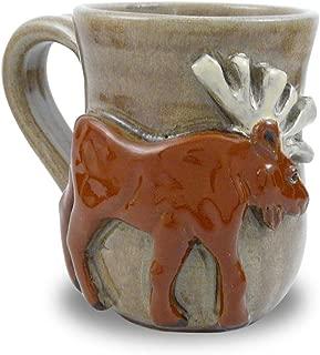Moose Mug - American Handmade Stoneware Pottery, 14 oz