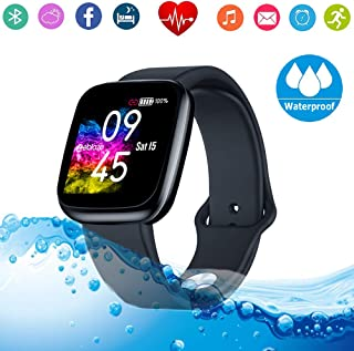 Fitness Tracker HR Smart Watch/Blood Pressure & Heart Rate & Sleep Monitor/IP67 Waterproof Sport Running & Walking Pedometer/Activity Calories Step Counter Gift for Women Men IOS & Android phones