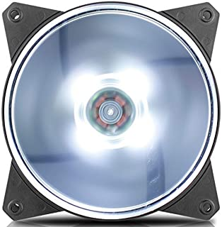 Cooler Master MasterFan MF120L White LED 120mm Fan - Black Frame - R4-C1DS-12FW-R1