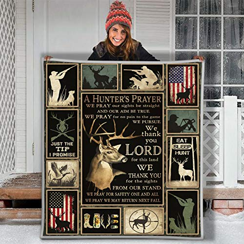Haisum Just The Tip I Promise A Hunter'S Prayer Thank You Lord FOR This Land - Manta de Forro Polar 3D Personalizable, X-Large 80 X 60 Inch