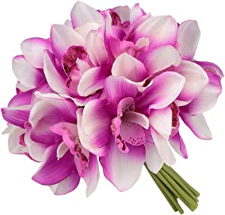 Easin Bridal Bouquets Artificial Flowers Real Touch Orchid Bouquet Wedding for DIY Centerpieces Party