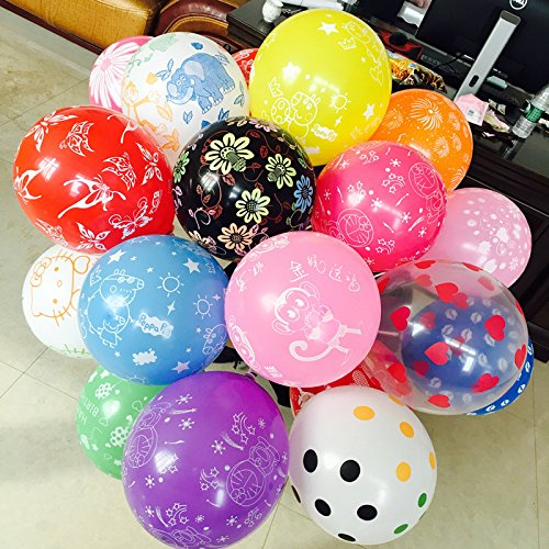 GrandShop 50330 Assorted Printed Toy Balloons Pack Of 50