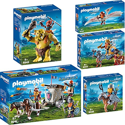 Playmobil Knights Set: 9341 9342 9343 9344 9345