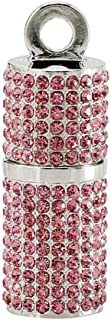 Civetman 128GB USB Flash Drive,Pink Bling Rhinestone Diamond Crystal Glitter Shining Jewelry Necklace