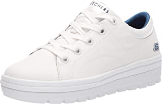 Women's Street Cleat. Canvas Contrast Stitch Lace Up Sneaker
