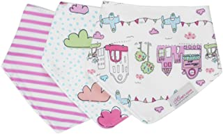 Andi Rose Drool Bibs |3-Pack Super Absorbent Cotton|Unisex Baby Gift