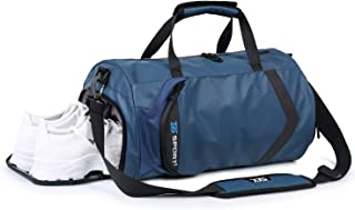 HUANGHENG Fitness Sports Gym Bag with Shoes Compartment and Wet Pocket Waterproof Small Travel Duffel Bag for Men and Women (blue)