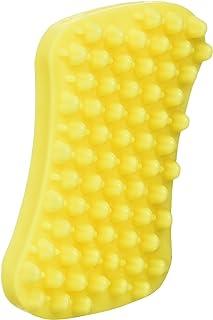 Pet + Me Cepillo de aseo multifuncional para perros de pelo corto, color amarillo