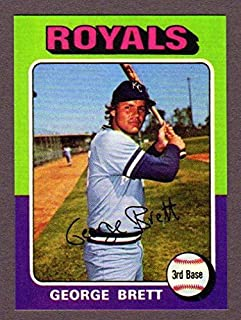 George Brett 1975 Topps Baseball MINI Rookie Reprint with Original Back (Kansas City)