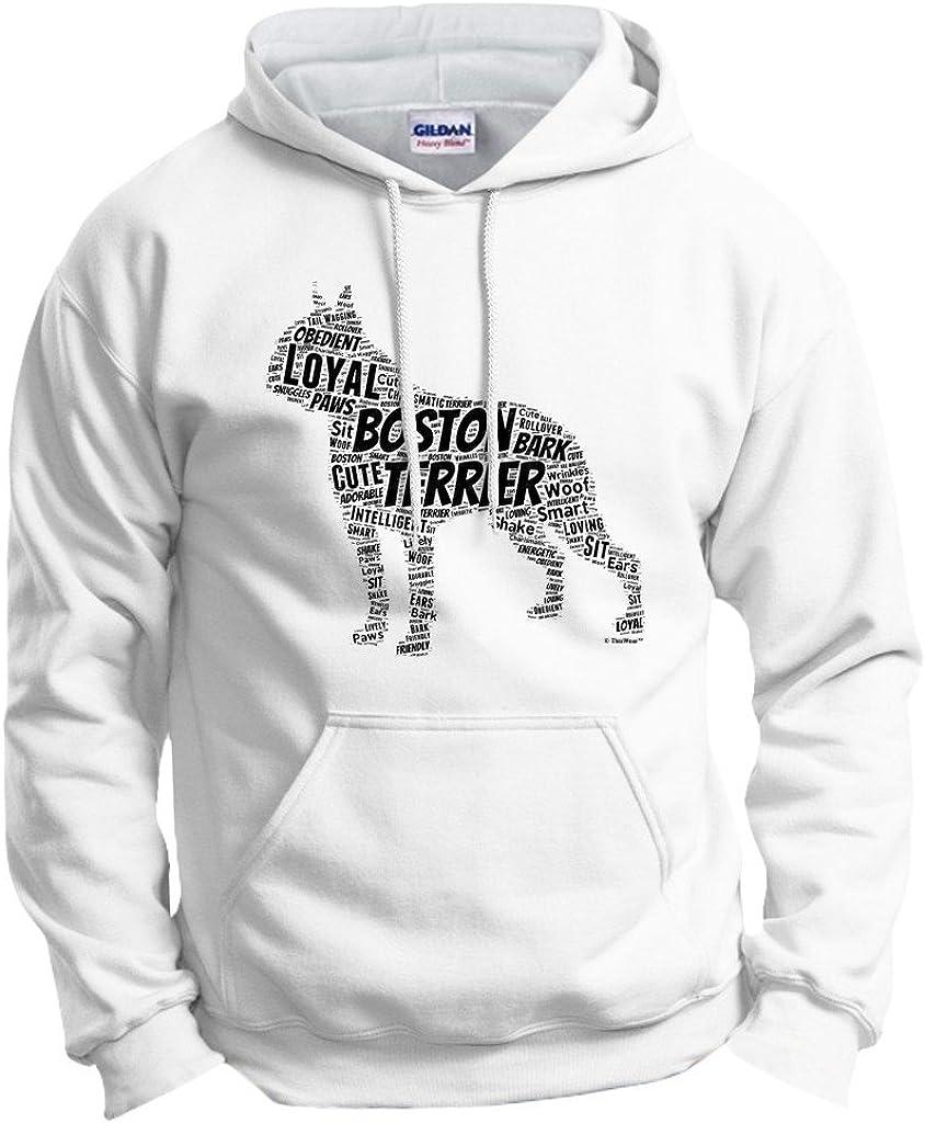 Boston Terrier Word Art Dog 開店祝い Puppy Owner 出荷 Sweatshirt Hoodie Gift