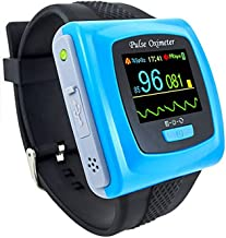 CMS 50F for Using After Sports or Home Daily Use Adult Wrist Pulse Oximeter Rechargareable by USB Cable